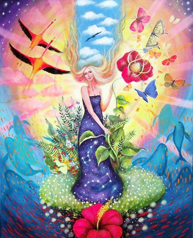 Картина «Цветок любви», 2017 год. Художница — Наталья Арчаковская.